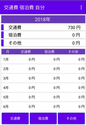 交通費・宿泊記録アプリ_画面2