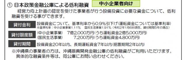 経営力向上計画 日本政策金融公庫による低利融資